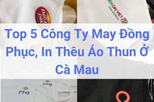 Top 5 Công Ty May Đồng Phục, In Thêu Áo Thun Ở Cà Mau
